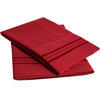 Ultra-soft 1500 Series Embroidered Pillowcases (Pack of 2)