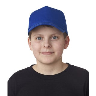 Boys' Royal Blue Cotton Twill One-size Classic-cut 5-panel Cap