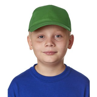 UltraClub Boy's Green Cotton Cap