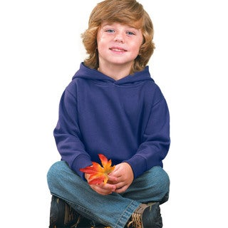 Boys' Purple Fleece Pullover Hooded Sweatshirt
