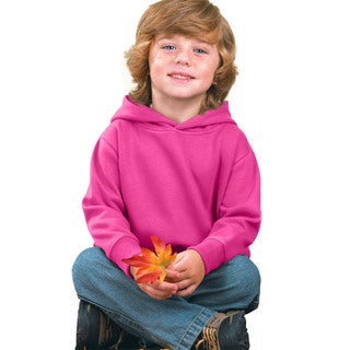 Boy's Raspberry Fleece Pullover Hooded Sweatshirt