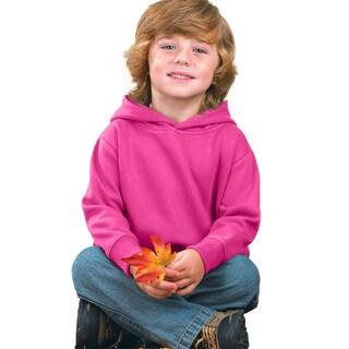 Boy's Raspberry Fleece Pullover Hooded Sweatshirt