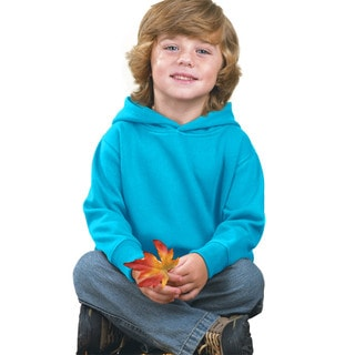 Boys' Turquoise Fleece Pullover Hooded Sweatshirt