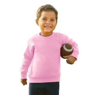 Boys' 7.5-ounce Pink Fleece Sweatshirt