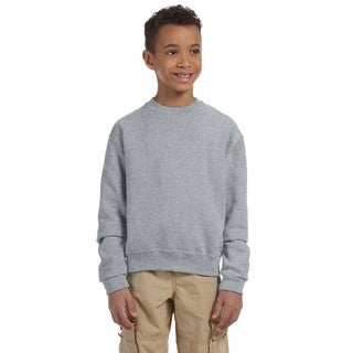 Nublend Boys' Oxford Cotton and Polyester Crewneck Sweatshirt