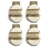Rucci Sisal Terry Oval Bath Pad (Pack of 4)