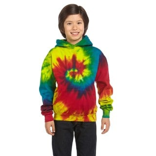 Boy's Reactive Rainbow Tie-dyed Pullover Hoodie