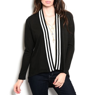 JED Women's Long Sleeve Varsity Cardigan