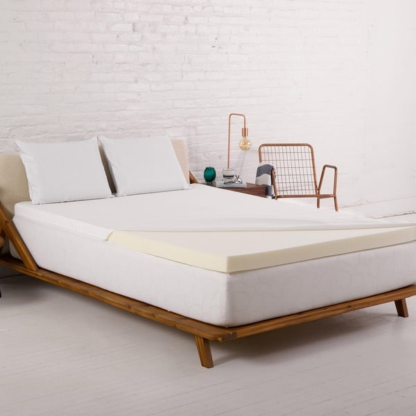 Authentic Comfort 2.5-inch Twin Size Memory Foam Mattress Topper with Cover