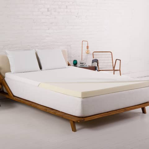 Authentic Comfort® 2-Inch Memory Foam Mattress Topper with Nano-Tex® Coolest Comfort Cover