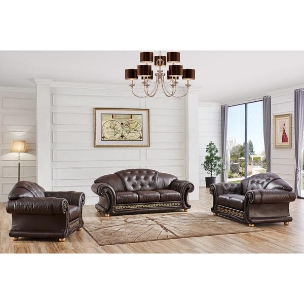 Shop LUCA Home 3-piece Brown Classic Contemporary Living Room Set ...