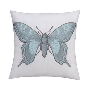 Seedling by Thomas Paul Botanical Butterfly 18-inch Decorative Pillow