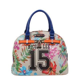 Nicole Lee Beige Numeric 15 Print Satchel Handbag