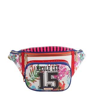 Nicole Lee Women's Multicolored Synthetic and Nylon Numeric 15 Print Waist Bag