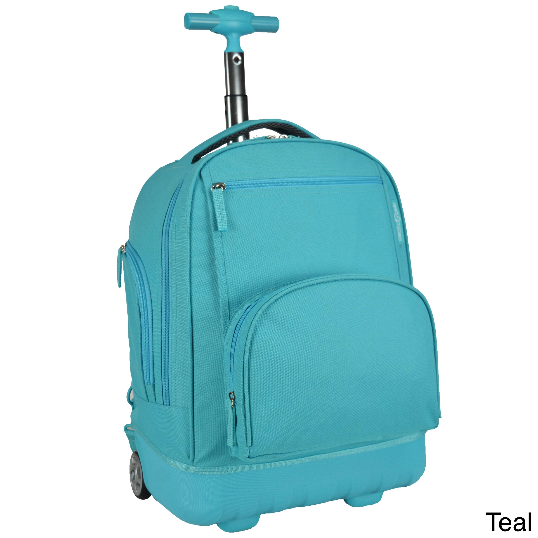 Shop Pacific Gear Treasureland Hybrid Lightweight Rolling Backpack Overstock 12173335