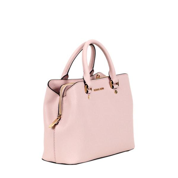 9fbeba0d29d Shop Michael Kors Blossom Medium Savannah Satchel Handbag - Free ...