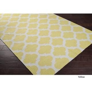 Hand Woven Carvin Flatweave Wool Rug (5' x 8')