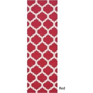 Hand Woven Carvin Flatweave Wool Rug (2'6 x 8')