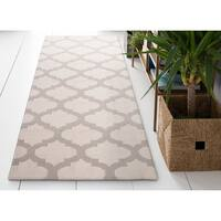 Hand Woven Carvin Flatweave Wool Area Rug