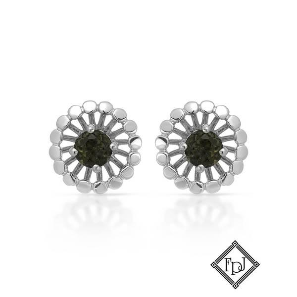 Fay Pay Jewels 14k Gold 2/5ct TW Moldavite Earrings
