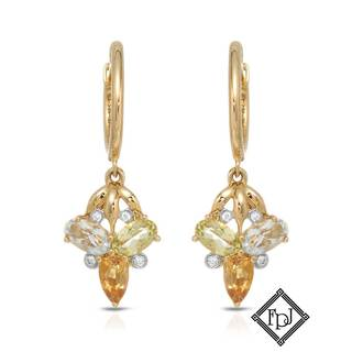 Fay Pay Jewels 14k Yellow Gold 1 2/5ct TW Amethyst Earrings