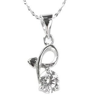 De Buman 0.50ctw CZ Solid 925 Silver Necklace 18 INCH