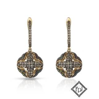 Fay Pay Jewels 14k Yellow Gold 1 1/10ct TW Diamond Earrings
