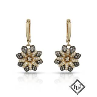 Fay Pay Jewels 14k Yellow Gold 1/2ct TW Diamond Earrings
