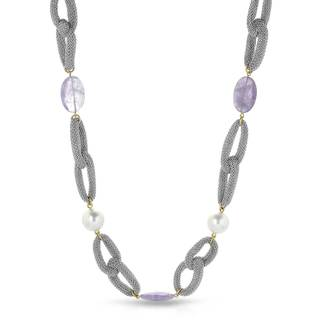 Adami & Martucci Gold over Silver Amethyst Necklace