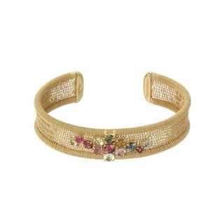 Adami & Martucci Gold over Silver Tourmaline Bracelet