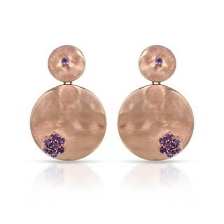 Adami & Martucci Sterling Silver Amethyst Earrings