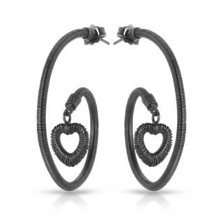 Adami & Martucci Sterling Silver Heart Earrings