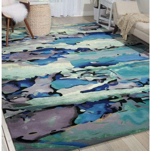 Shop Nourison Prismatic Seaglass Area Rug 7 9 Quot X 9 9