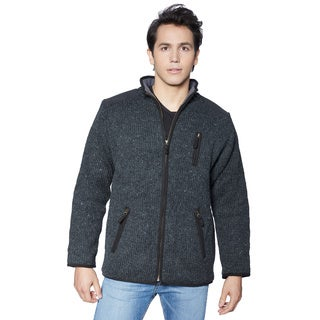 Laundromat Men's Oxford Full-zip Sweater