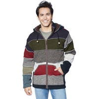 Laundromat Men's Black Wool Patchwork Sweater