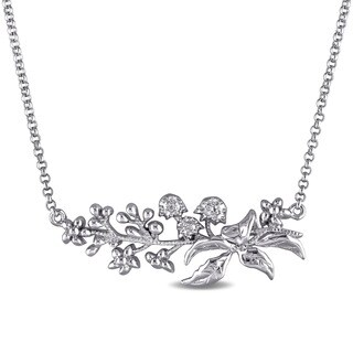 Laura Ashley Sterling Silver Floral Branch Necklace