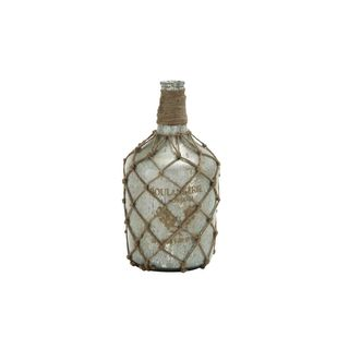 Glass Jute 15-inches High x 7-inches Wide Bottle Vase