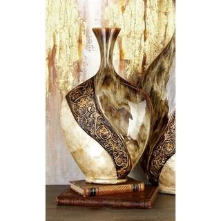 Cer/Capiz Sheel Vase