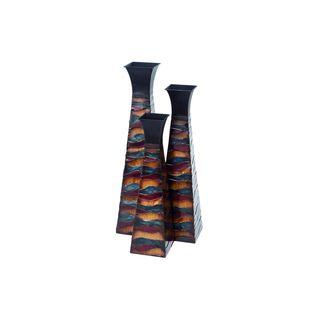 Multi-colored Metal Vases (Set of 3)