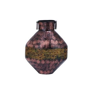 Yellow/Brown Iron 16-inches Wide x 20-inches High Flower Vase
