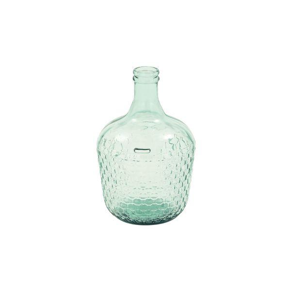 10-inch Wide x 17-inch High Wide Glass Bottle Vase