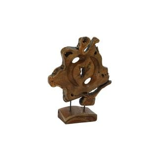 Teak Metal 16-inches Wide x 19-inches High Sculpture