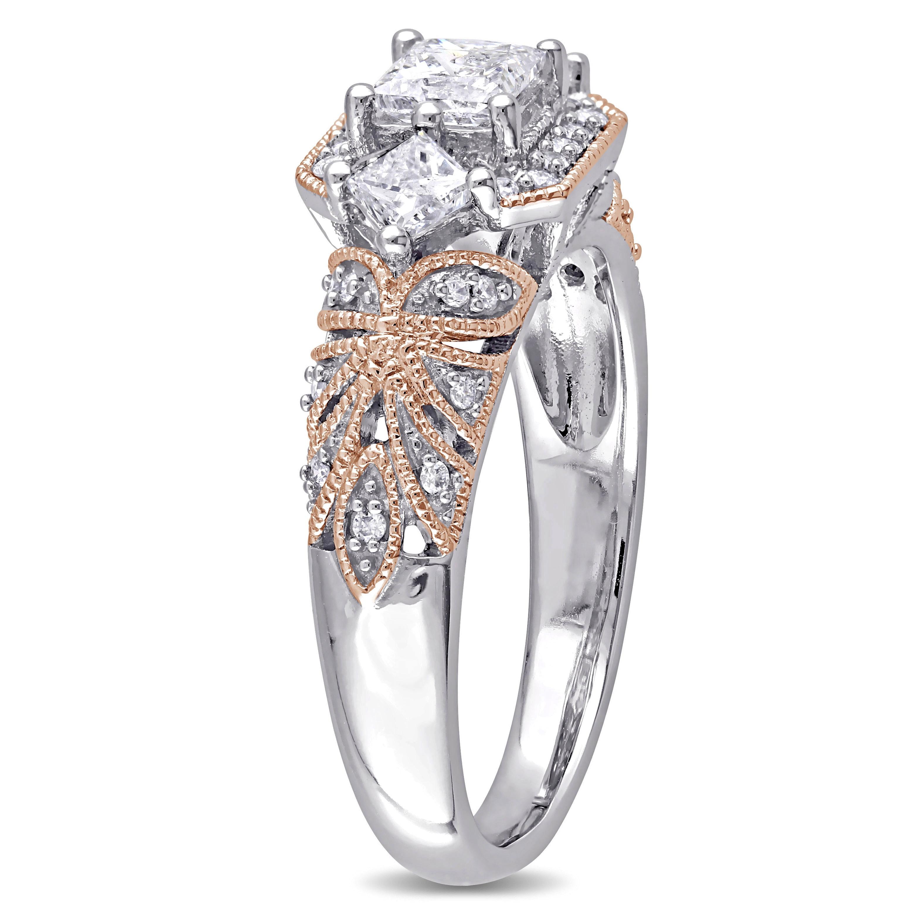 Size-5.25 Diamond Wedding Band in 10K White Gold 1//6 cttw, G-H,I2-I3