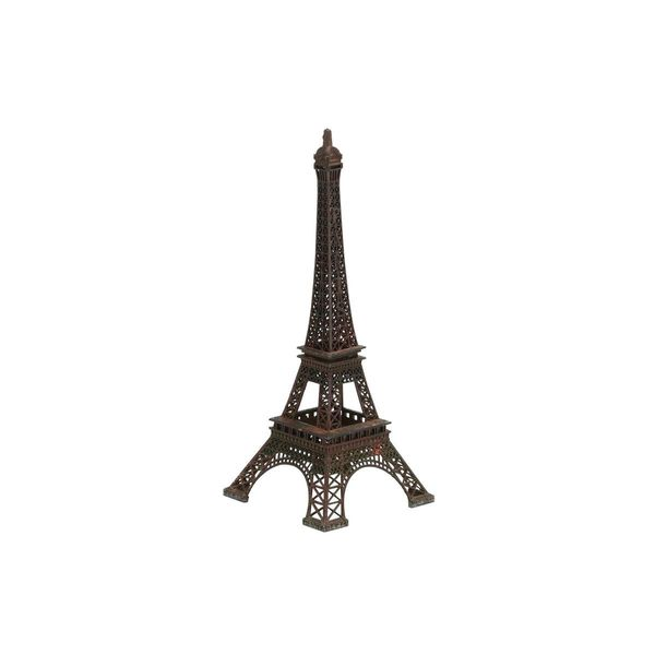 Brown Iron 5-inches Wide x 12-inches High Eiffel Tower Sculpture