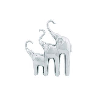 The Curated Nomad Merced Silver Ceramic Elephant Trio