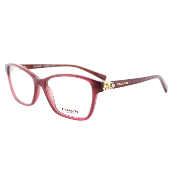 Coach Eyeglass Frames Red : Coach HC 6091B 5398 Milky Black Cherry Plastic Square 53mm ...