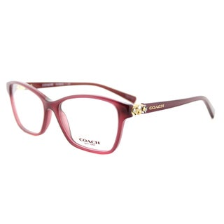 Coach HC 6091B 5398 Milky Black Cherry Plastic Square 53mm Eyeglasses