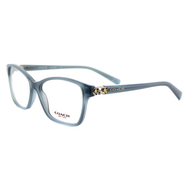 de627e1eac4 Shop Coach HC 6091B 5399 Milky Blue Plastic Square 51mm Eyeglasses ...