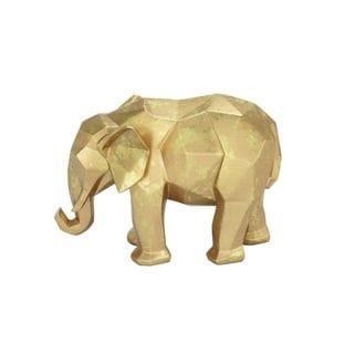 Polystone Gold Elephant - Thumbnail 0