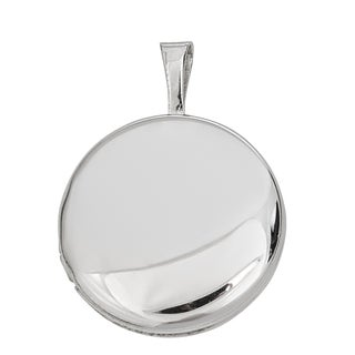 Decadence Sterling Silver Rhodium and Satin Reversible Round Locket Pendant
